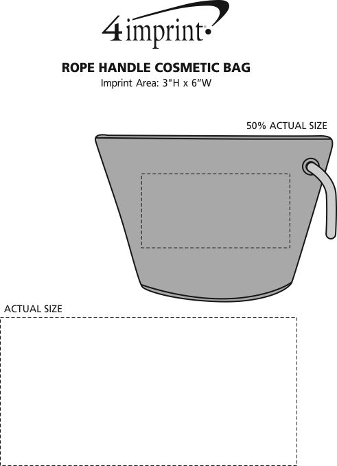Imprint Area of Rope Handle Cosmetic Bag