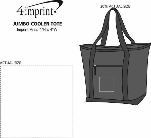 Imprint Area of Jumbo Cooler Tote