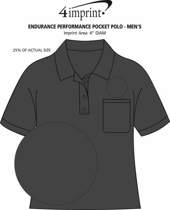 Imprint Area of Endurance Performance Pocket Polo - Men's