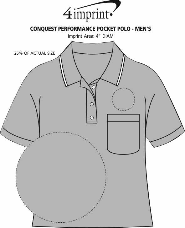 Imprint Area of Conquest Performance Pocket Polo - Men's