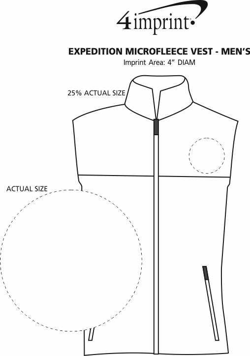 Imprint Area of Expedition Microfleece Vest - Men's