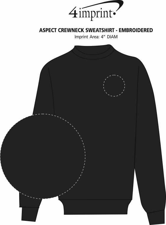 Imprint Area of Aspect Crewneck Sweatshirt - Embroidered