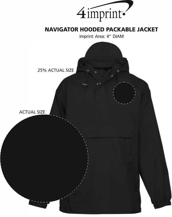 Imprint Area of Navigator Hooded Packable Jacket