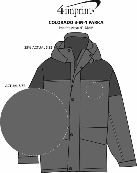Imprint Area of Colorado 3-in-1 Parka