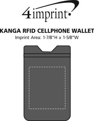 Imprint Area of Kanga RFID Cellphone Wallet
