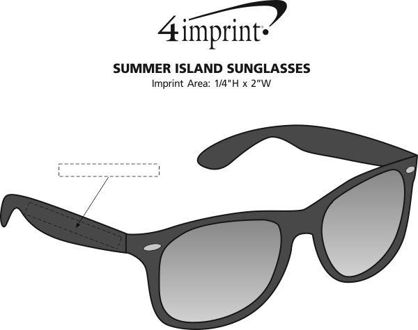 Imprint Area of Summer Island Sunglasses