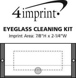 Imprint Area of Eyeglass Cleaning Kit