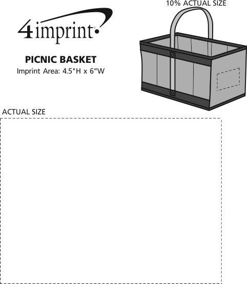 Imprint Area of Picnic Basket