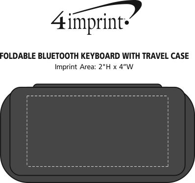 Imprint Area of Foldable Bluetooth Keyboard with Travel Case