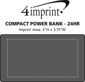 Imprint Area of Compact Power Bank - 24 hr