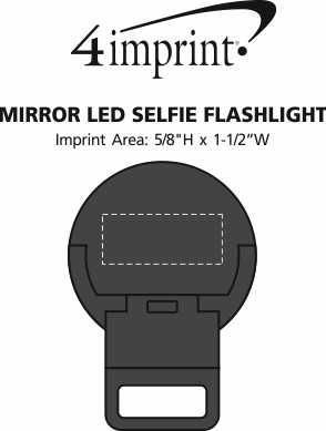 Imprint Area of Mirror LED Selfie Flashlight