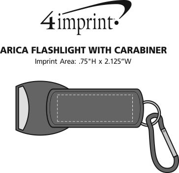 Imprint Area of Arica Flashlight with Carabiner