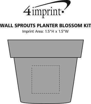 Imprint Area of Wall Sprouts Planter Blossom Kit