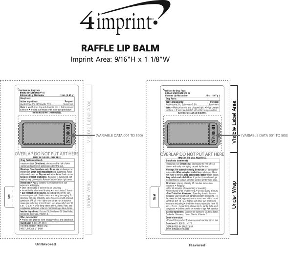 Imprint Area of Raffle Lip Balm