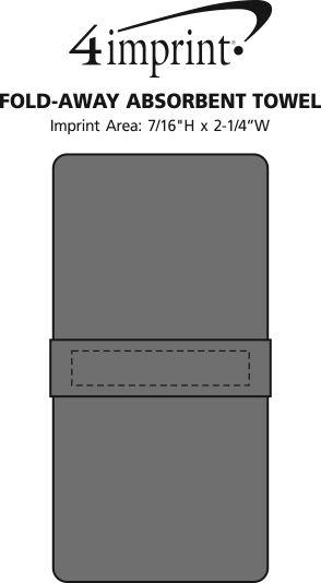 Imprint Area of Fold-Away Absorbent Towel