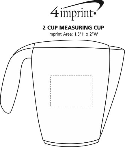 Imprint Area of 2 Cup Measuring Cup