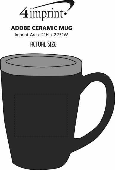 Imprint Area of Adobe Ceramic Mug - 14 oz. - Deep Etch