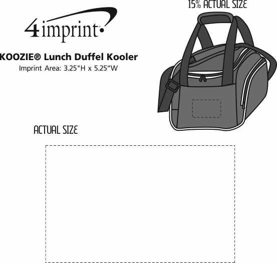 Imprint Area of Koozie® Lunch Duffel Kooler