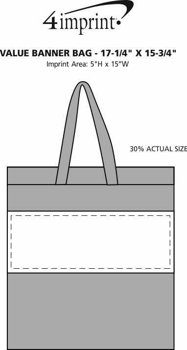 "Imprint Area of Full Color Banner Bag - 17-1/4"" x 15-3/4"""