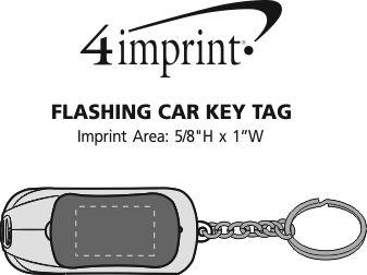 Imprint Area of Flashing Car Keychain