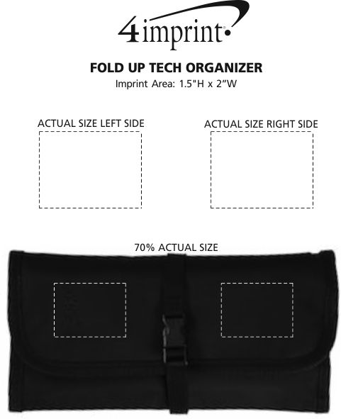 Imprint Area of Fold Up Tech Organizer