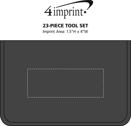 Imprint Area of 23-Piece Tool Set