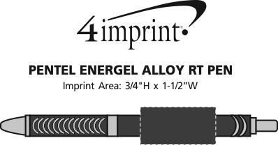 Imprint Area of Pentel EnerGel Alloy RT Pen