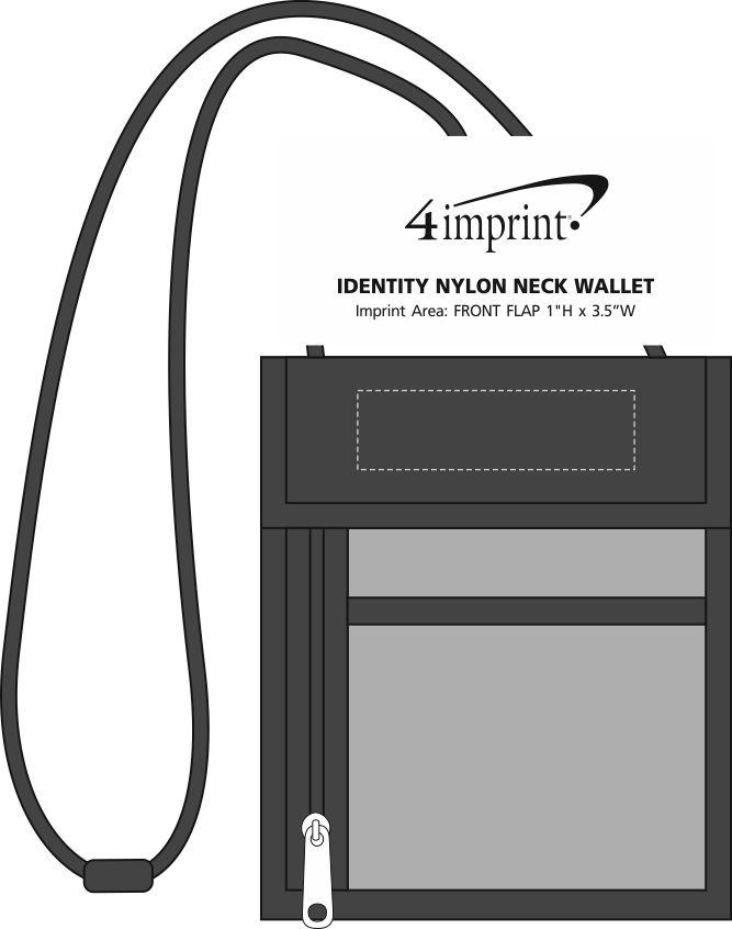 Imprint Area of Identity Nylon Neck Wallet