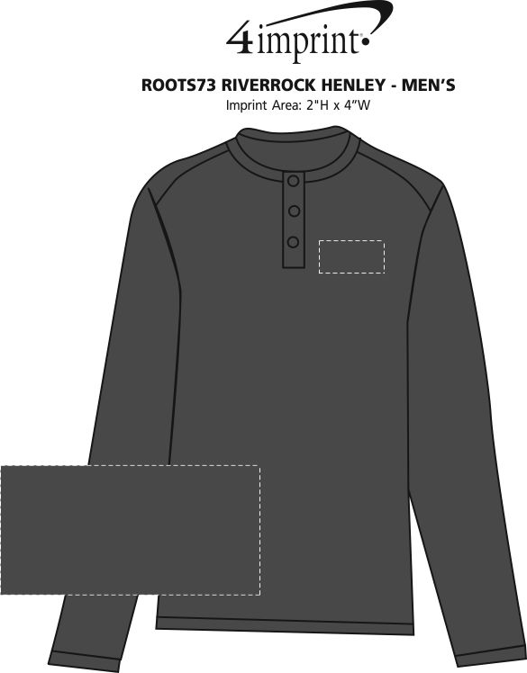 Imprint Area of Roots73 Riverrock Henley - Men's