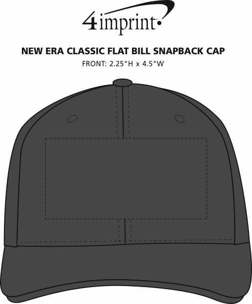 Imprint Area of New Era Classic Flat Bill Snapback Cap