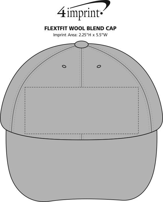 Imprint Area of Flexfit Wool Blend Cap