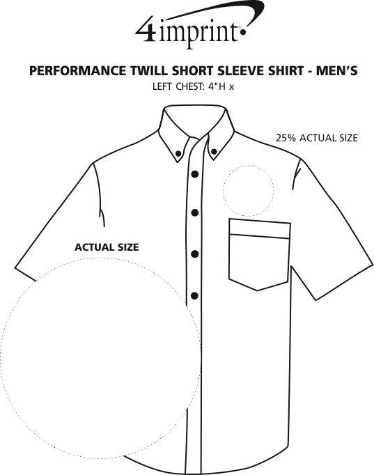 Imprint Area of Performance Twill Short Sleeve Shirt - Men's