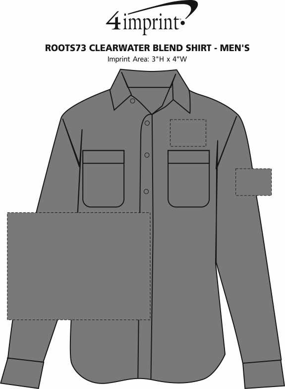 Imprint Area of Roots73 Clearwater Blend Shirt - Men's