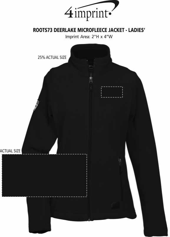 Imprint Area of Roots73 Deerlake Microfleece Jacket - Ladies' - 24 hr