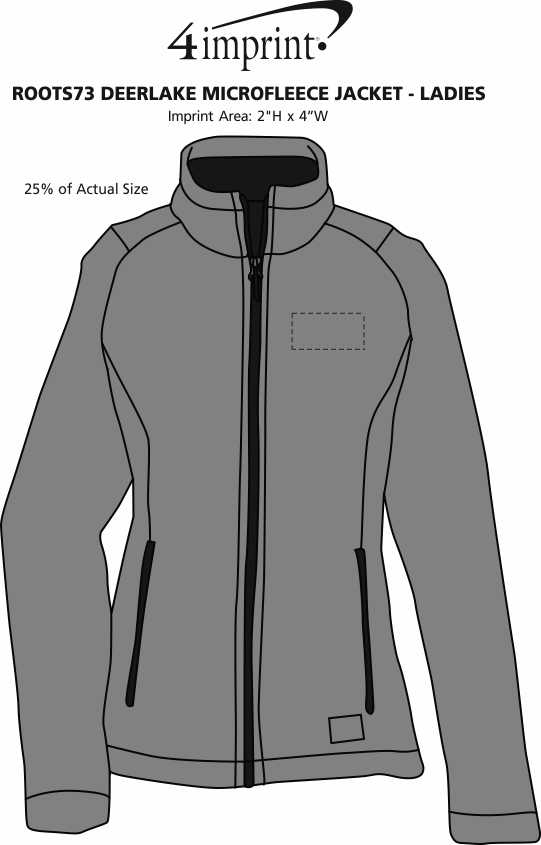 Imprint Area of Roots73 Deerlake Microfleece Jacket - Ladies'