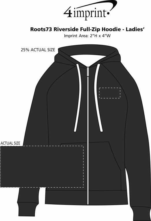 Imprint Area of Roots73 Riverside Full-Zip Hoodie - Ladies'