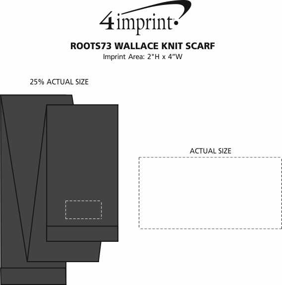 Imprint Area of Roots73 Wallace Knit Scarf
