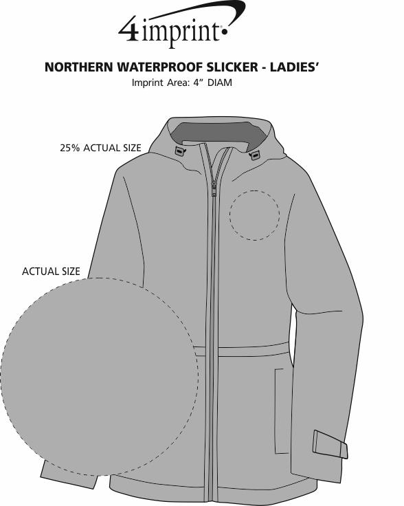 Imprint Area of Northern Waterproof Slicker - Ladies'