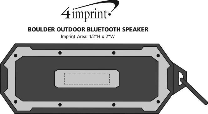 Imprint Area of Boulder Outdoor Bluetooth Speaker