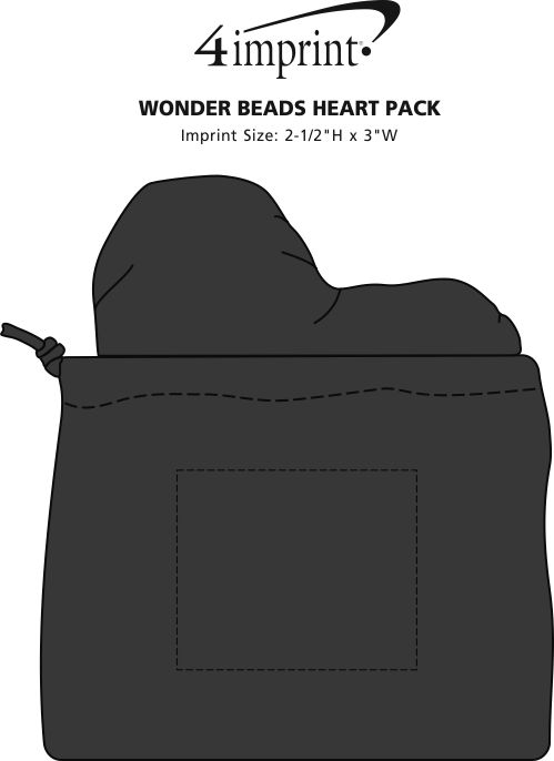 Imprint Area of Wonder Beads Heart Pack