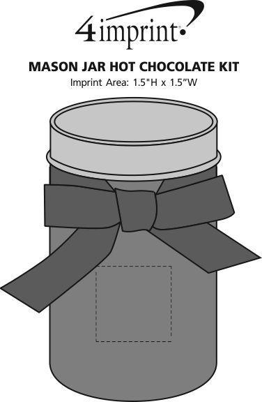 Imprint Area of Mason Jar Hot Chocolate Kit