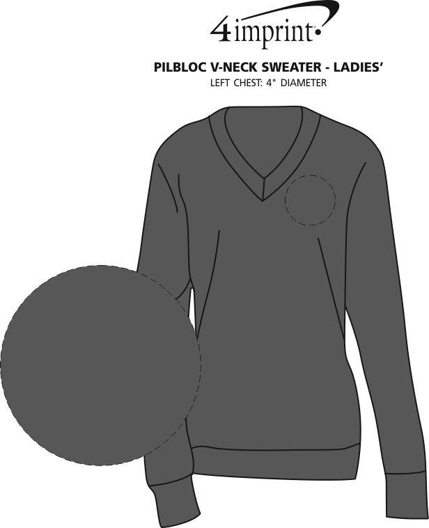 Imprint Area of Pilbloc V-Neck Sweater - Ladies'