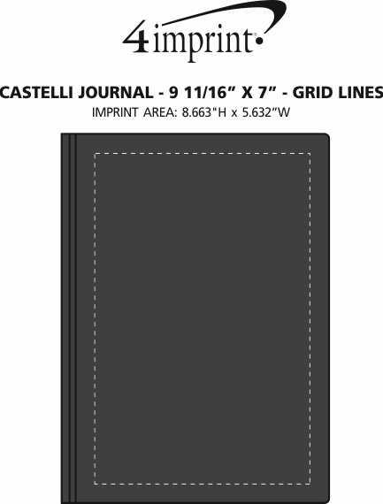 "Imprint Area of Castelli Journal - 9-11/16"" x 7"" - Grid Lines"