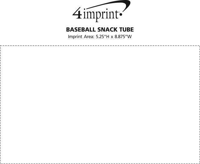 Imprint Area of Baseball Snack Tube