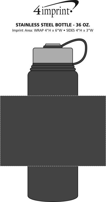 Imprint Area of Stainless Steel Vacuum Bottle - 36 oz.