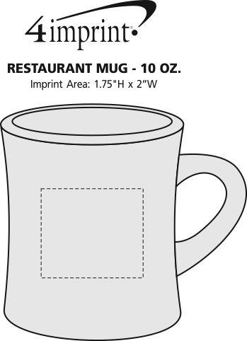 Imprint Area of Restaurant Mug - 10 oz.