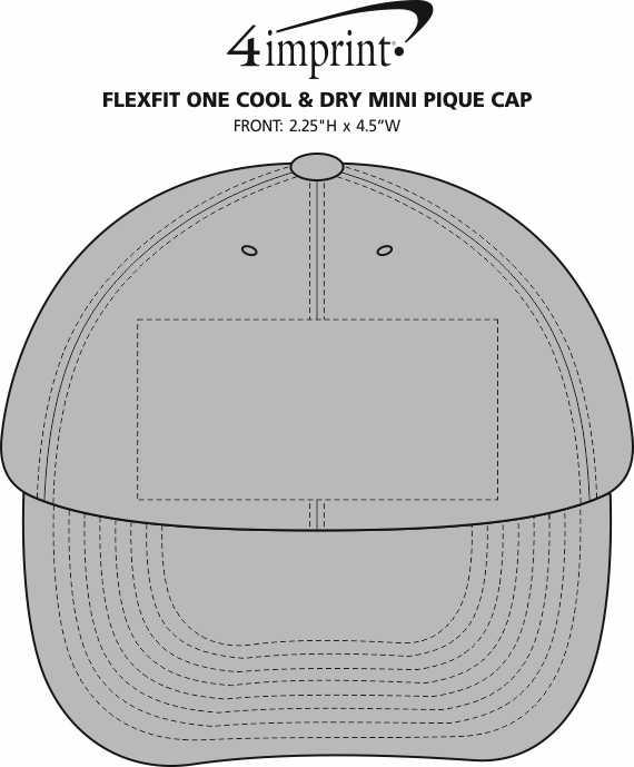 Imprint Area of Flexfit One Cool & Dry Mini Pique Cap