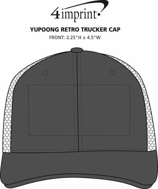 Imprint Area of Yupoong Retro Trucker Cap