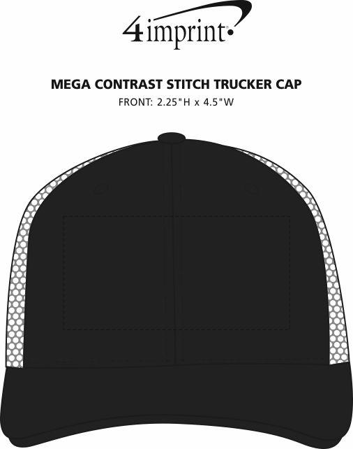 Imprint Area of Mega Contrast Stitch Trucker Cap
