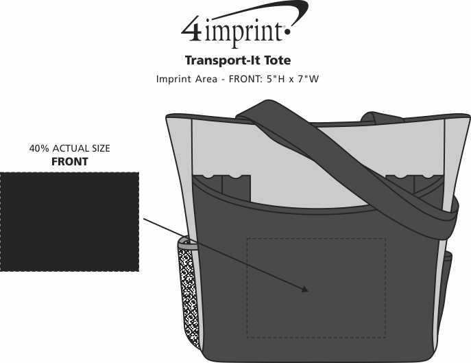 Imprint Area of Transport-It Tote